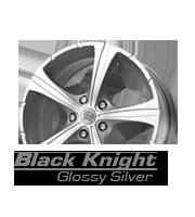 felgi momo black knight glossy silver