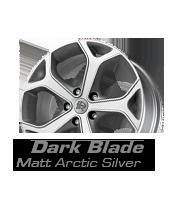 felgi momo dark blade matt arctic silver